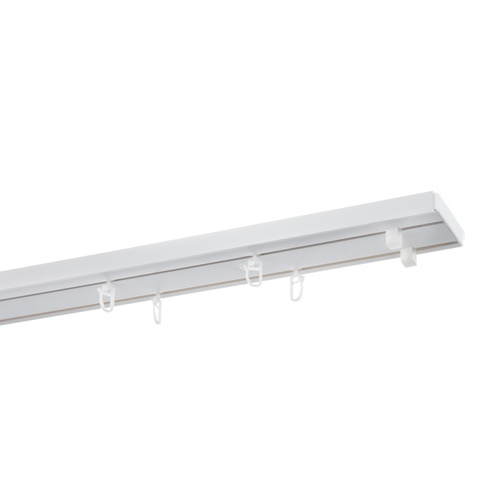 Карниз потолочный пластмассовый двухрядный 180 см белый