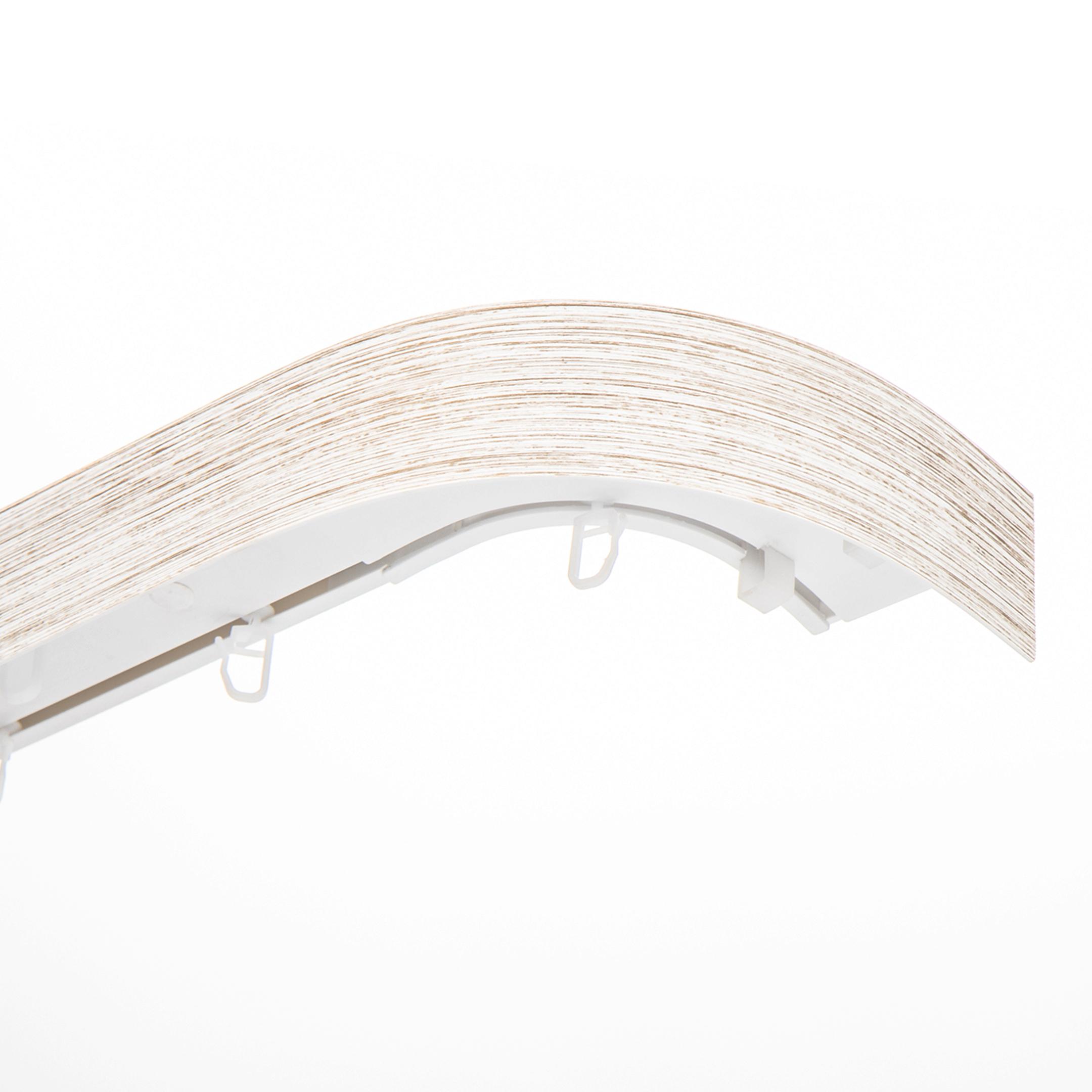 Карниз потолочный пластмассовый двухрядный с блендой 240 см белый/золото