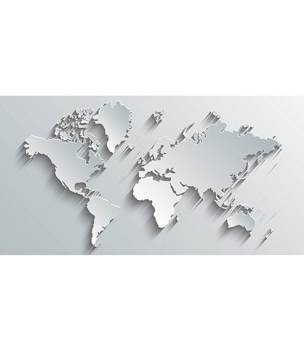 Фотопанно OVK Design Карта мира 230473 1 лист 2,5х1,3 м декоративные обои ovk design флора 4022 1 1 рулон