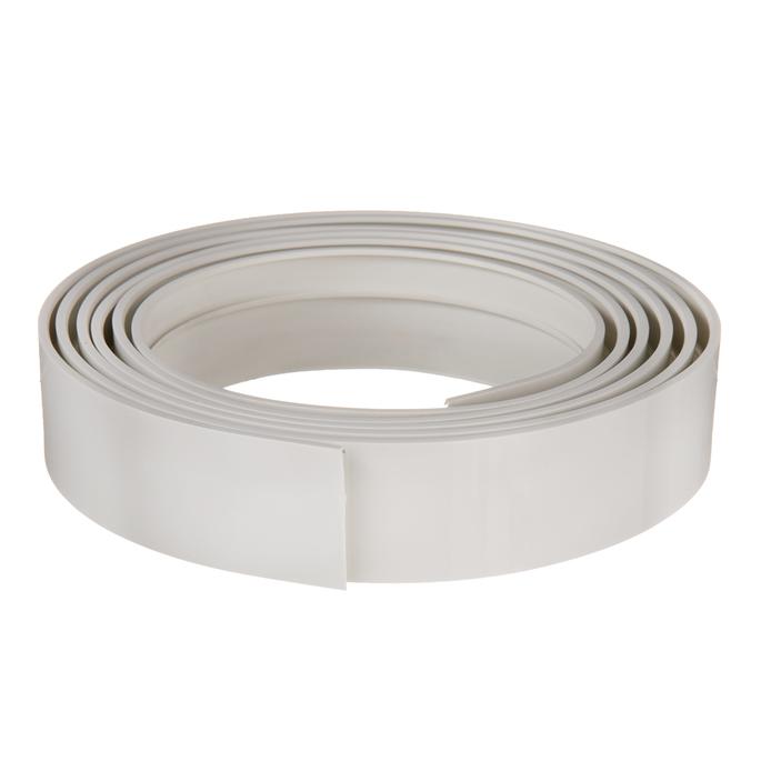 Бленда 50 мм для пластмассового карниза 350 см белый глянец