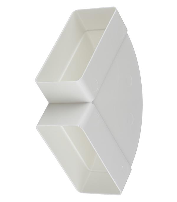 Колено для плоских воздуховодов горизонтальное пластиковое 55х110 мм 90° врезка оцинкованная для круглых стальных воздуховодов d125х100 мм