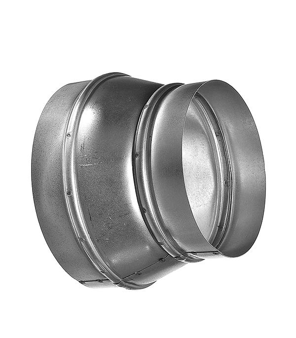 Купить Переход оцинкованный с круглых воздуховодов d150 мм на круглые d125 мм, Хром, Оцинкованный