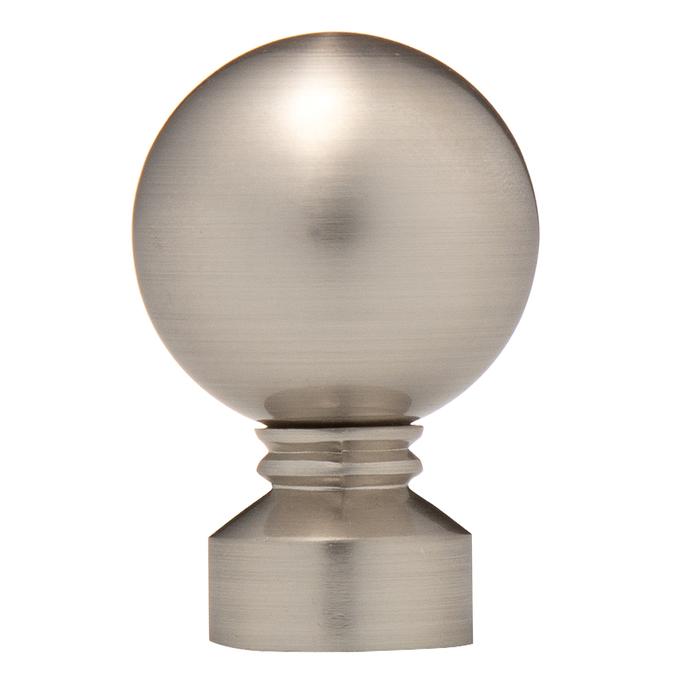 Наконечник Шар d 16 мм серебро 2 шт.