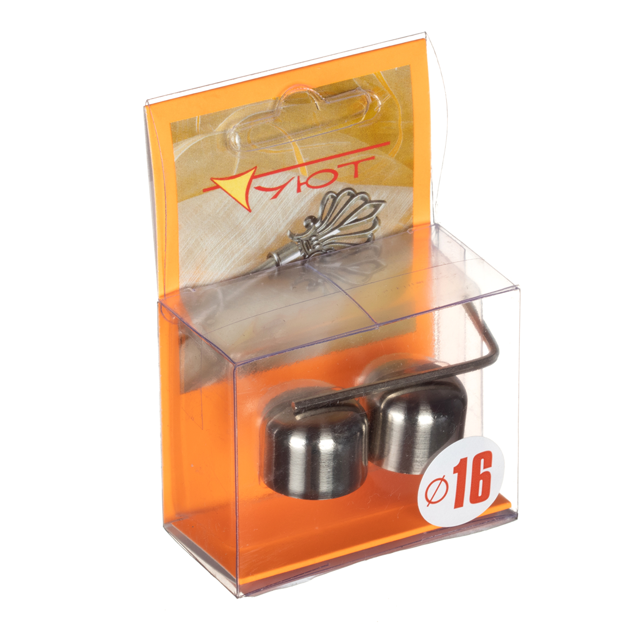 Наконечник-заглушка d 16 мм серебро 2 шт. цены онлайн