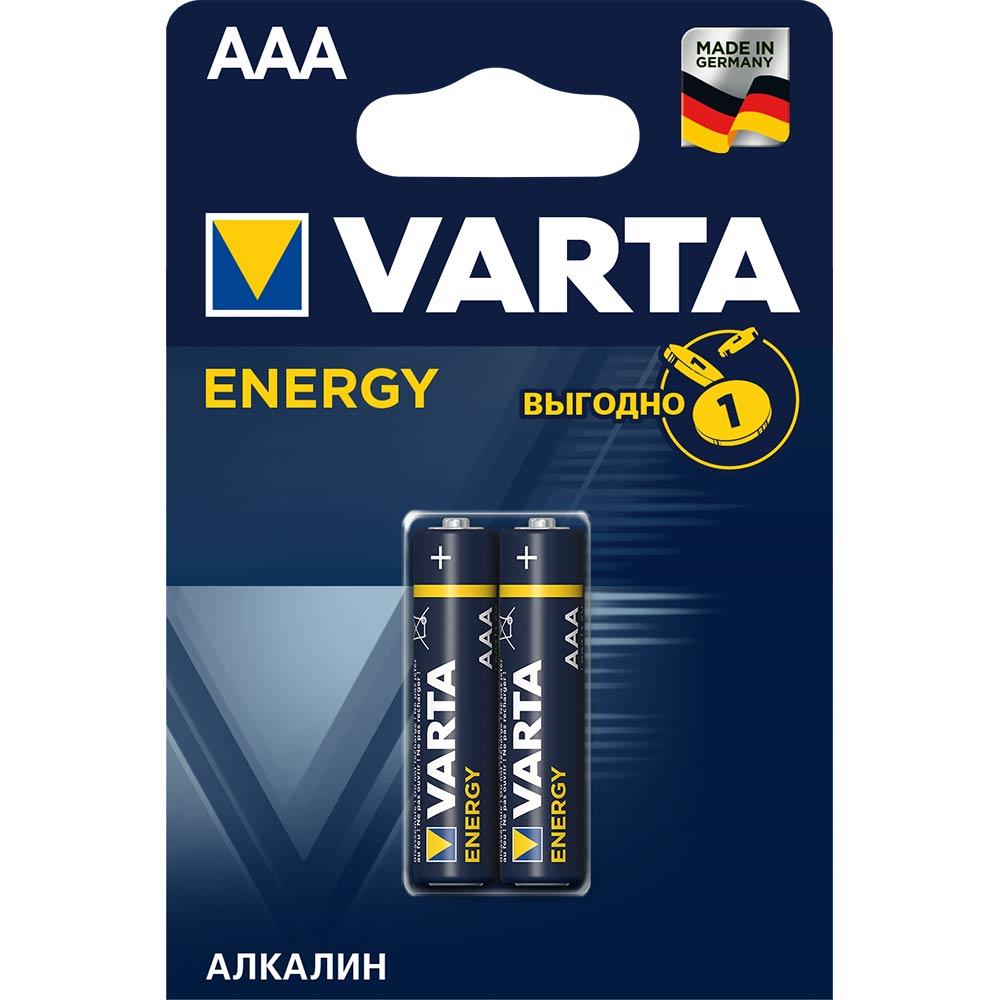 цена на Батарейка VARTA AAA мизинчиковая LR03 1,5 В 1200 мАч (2 шт.)