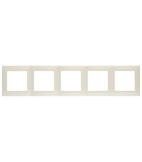 Рамка на 5 постов универсальная слоновая кость Simon 15 gira gira esp glass c салатовое стекло рамка 5 ая 0215518