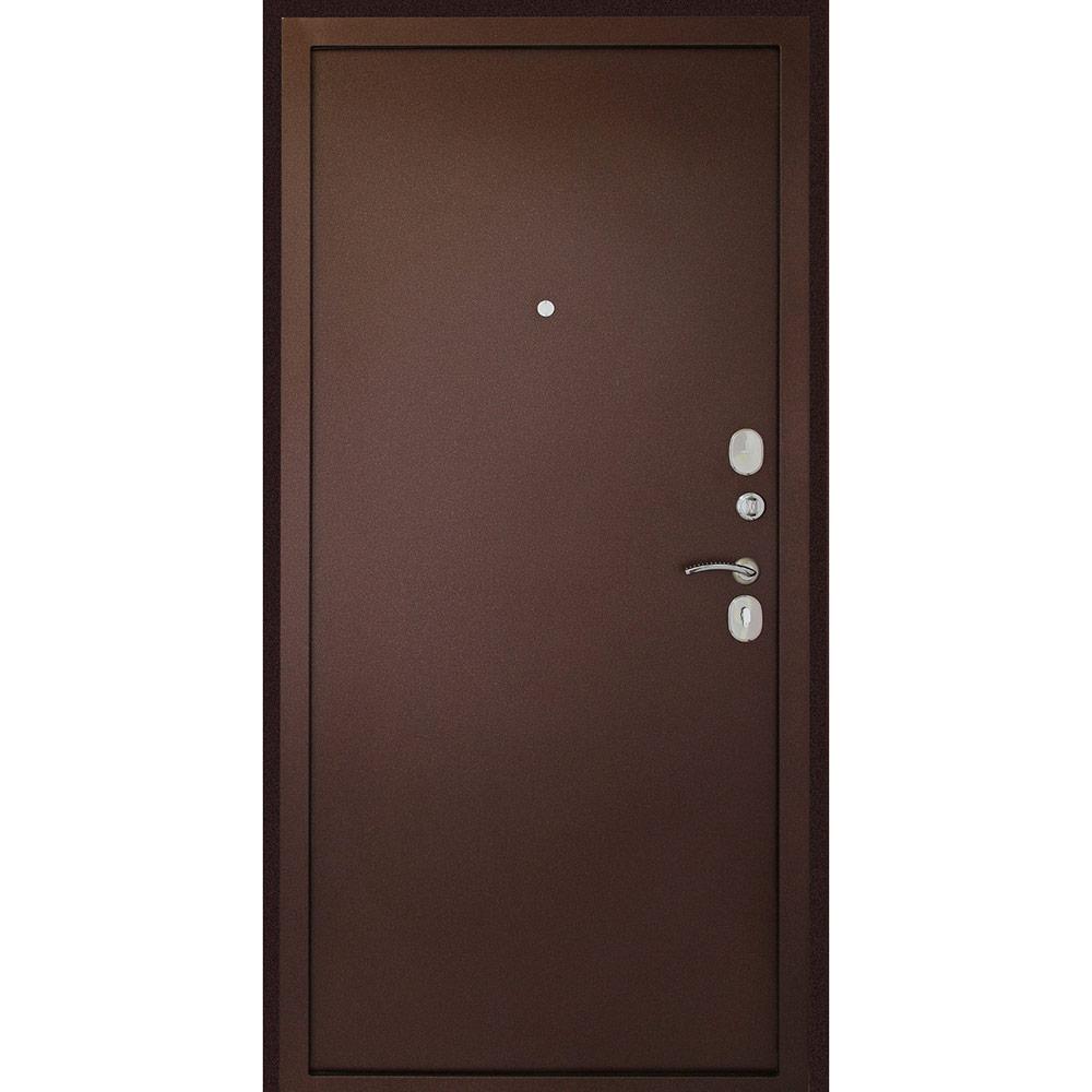 Дверь входная Дверной континент Иртыш 100 правая медный антик - медный антик 860х2050 мм