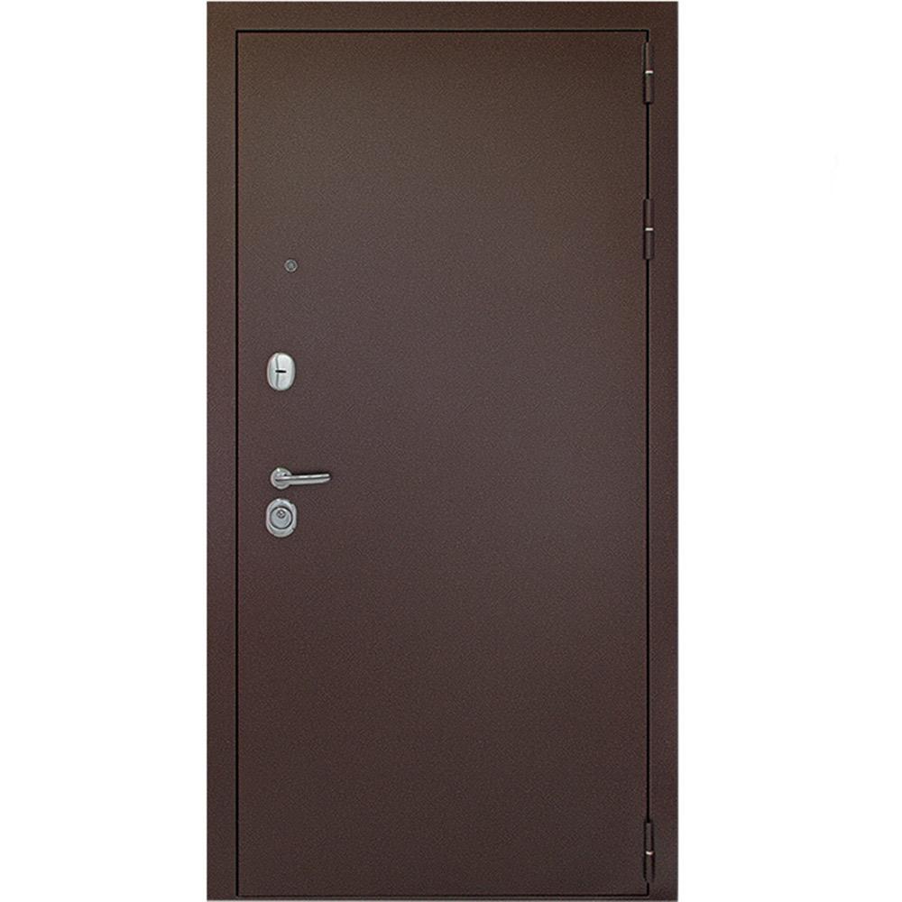 Дверь входная Дверной континент Гарант 1 правая медный антик - венге с зеркалом 860х2050 мм