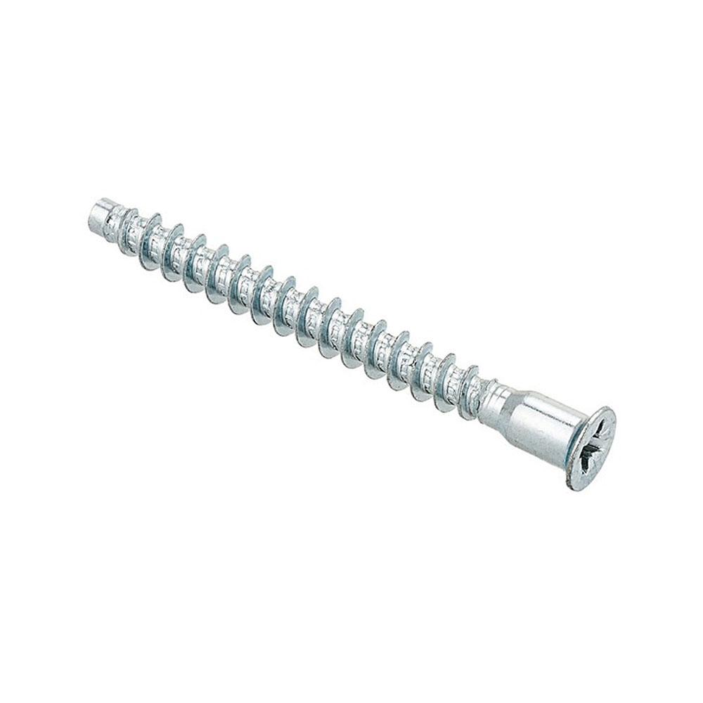 Стяжка шурупная оцинкованная 7х50 мм потайная головка PZ (15 шт.) комплектующие для корпусной мебели