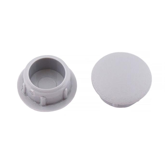 Заглушка декоративная пластиковая d10 мм светло-серая (35 шт.)