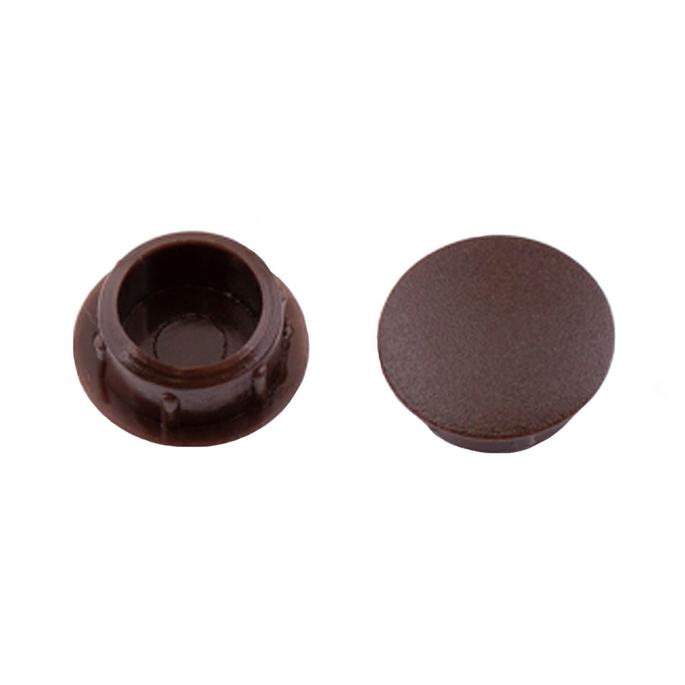 Заглушка декоративная пластиковая d10 мм темно-коричневая (35 шт.)