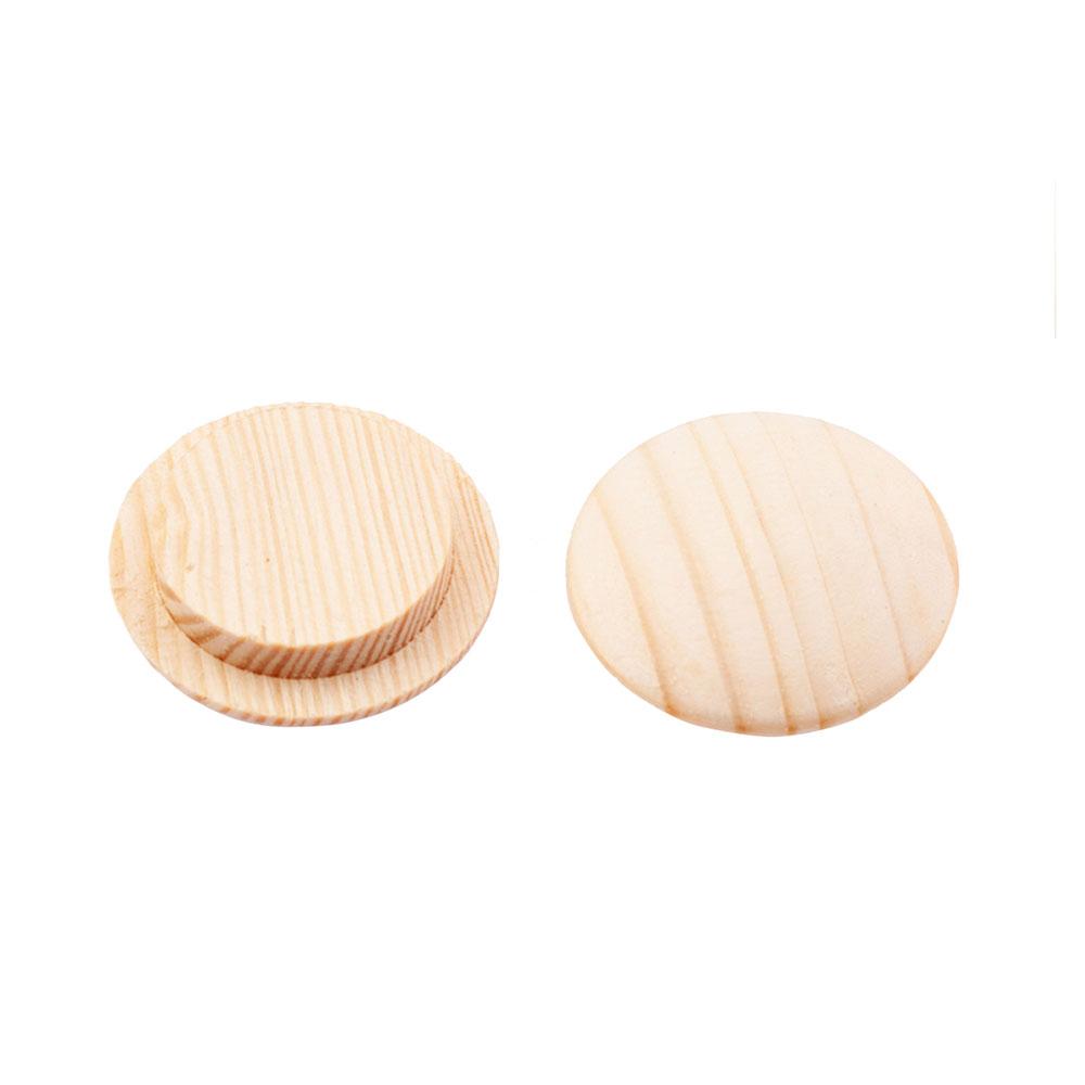 Заглушка декоративная деревянная d10 мм сосна (20 шт.)