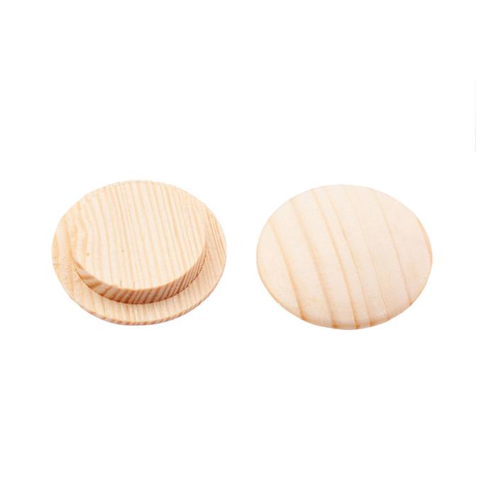 Заглушка декоративная деревянная d25 мм сосна (30 шт.)