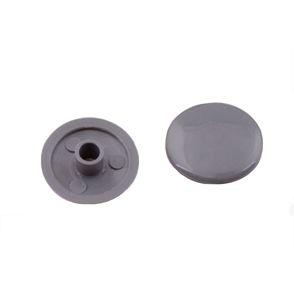 Заглушка декоративная пластиковая на мебельную стяжку HEX 7 мм серая (50 шт.) все цены