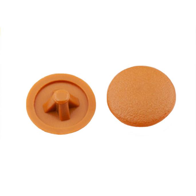 Заглушка декоративная пластиковая на шуруп №3 бук (50 шт.)