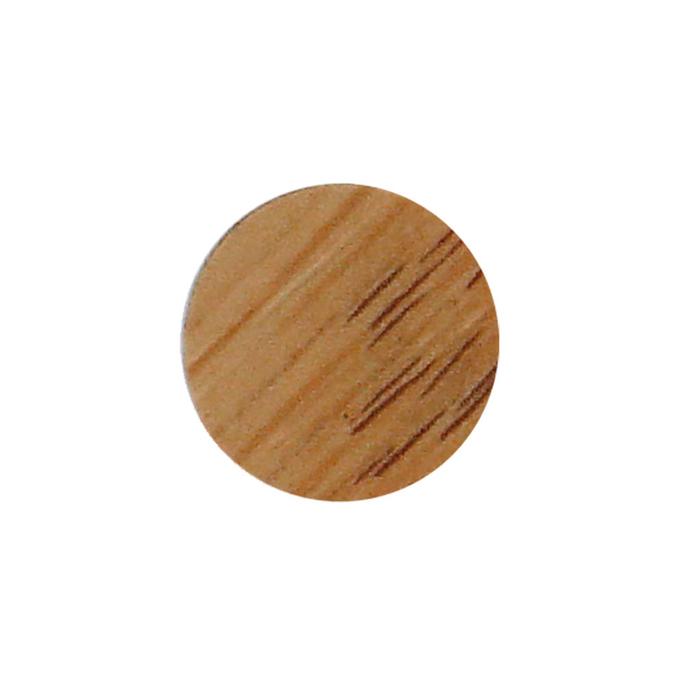 Заглушка декоративная d14 мм самоклеящиеся светлый дуб (50 шт.)