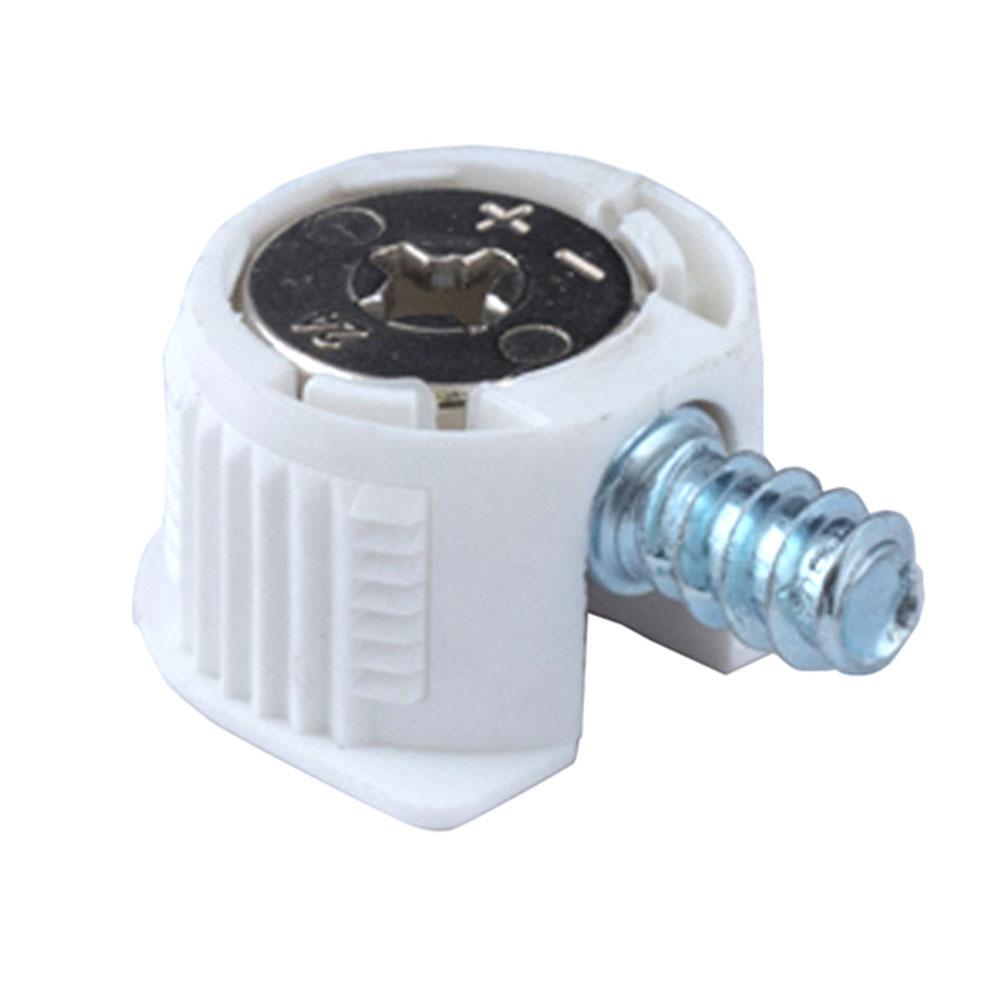 цена на Полкодержатель-стяжка d20 мм белый со штоком 11 мм (4 шт.)