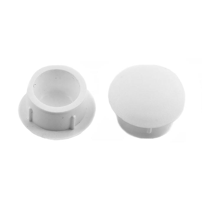 Заглушка декоративная пластиковая d12 мм белая (30 шт.)