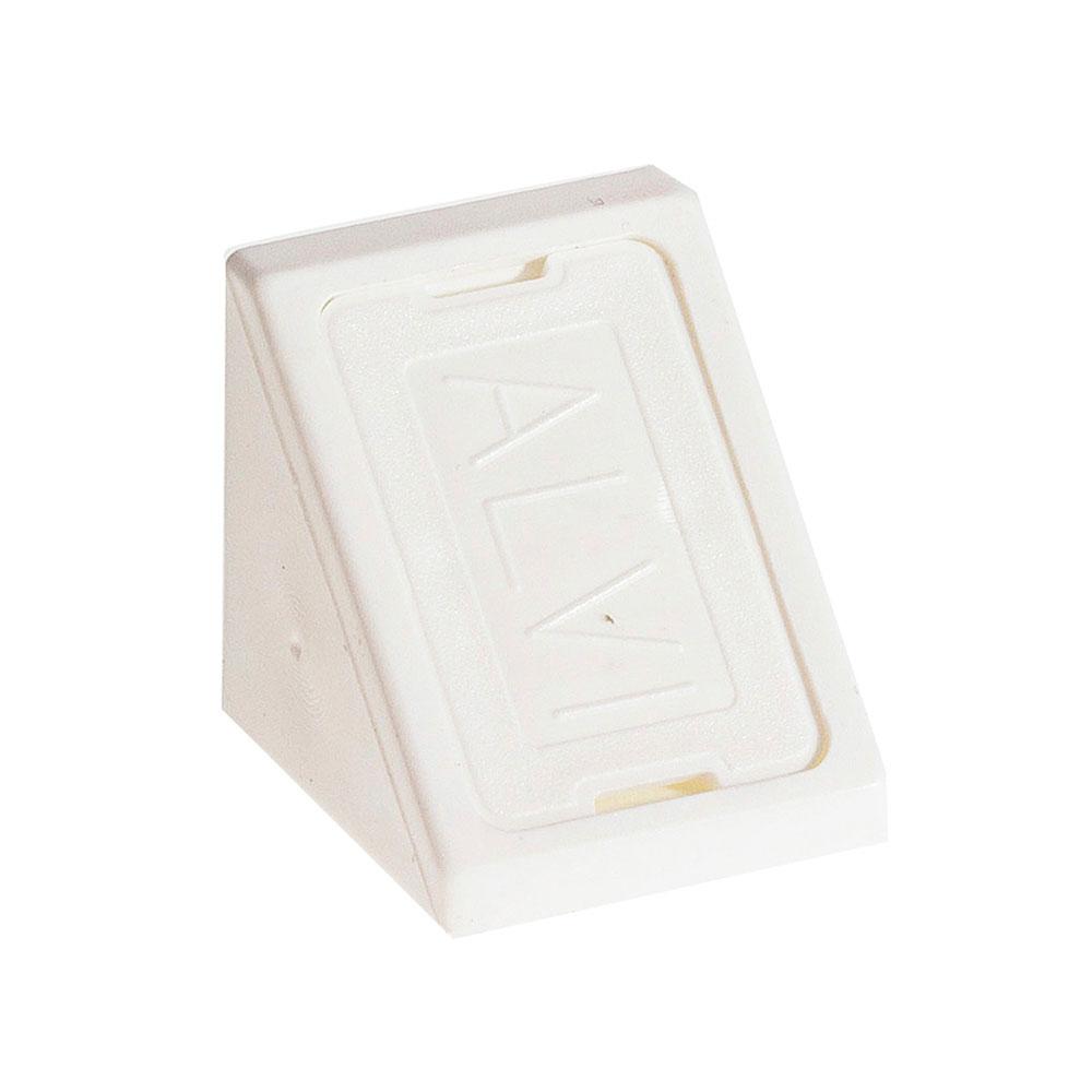 Уголок мебельный пластиковый 21х21х21 мм белый с шурупом (6 шт.) комплектующие для корпусной мебели