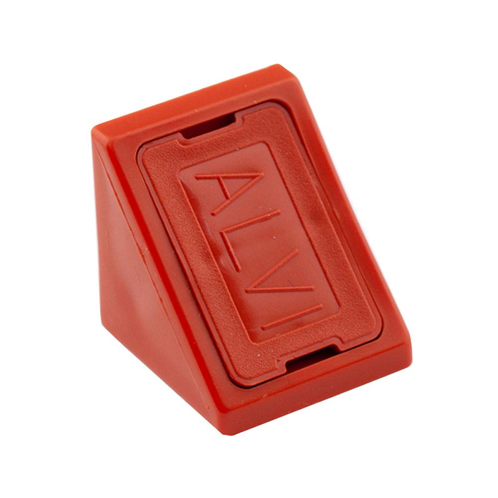 Уголок мебельный пластиковый 21х21х21 мм вишня с шурупом (6 шт.) комплектующие для корпусной мебели