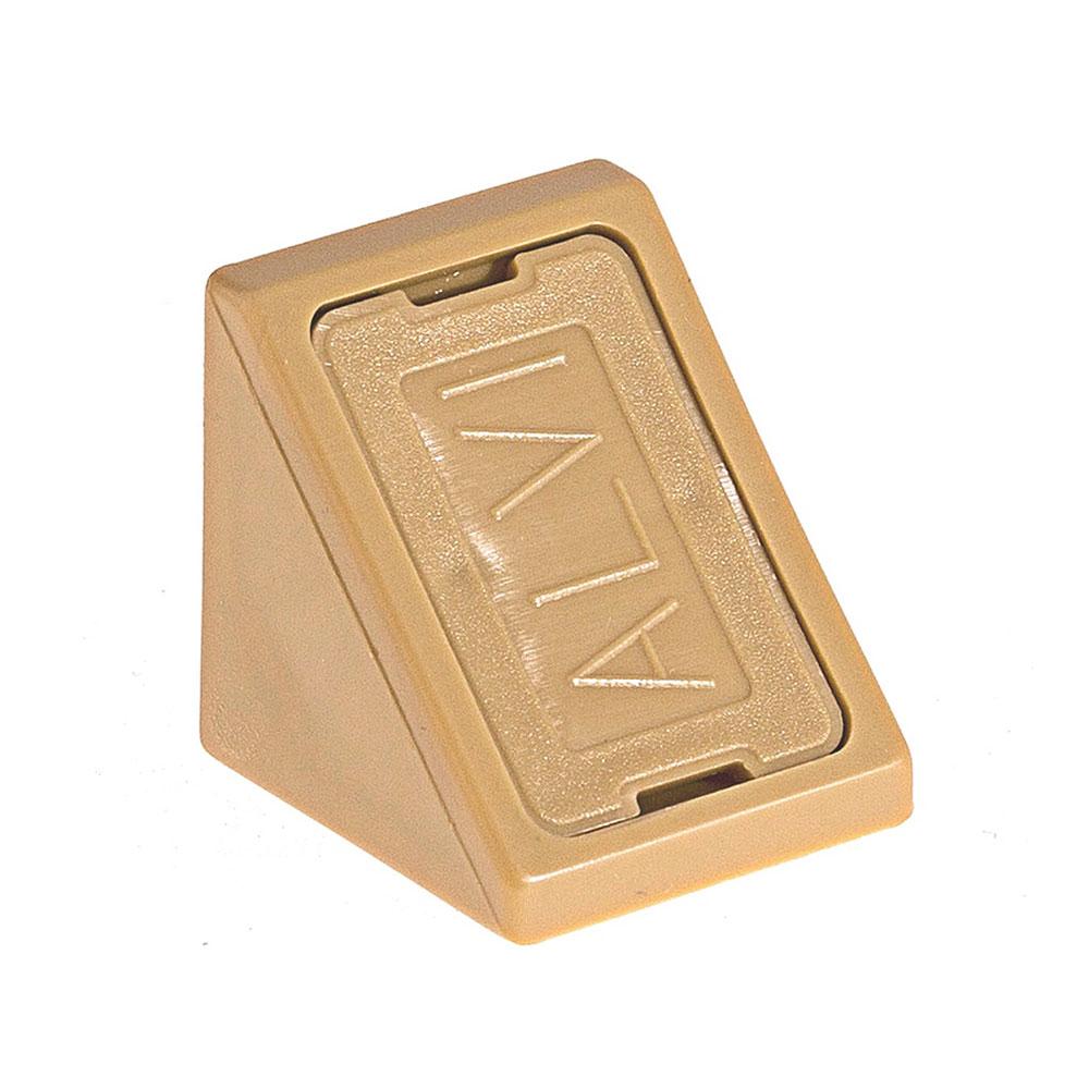 Уголок мебельный пластиковый 21х21х21 мм бук с шурупом (6 шт.) комплектующие для корпусной мебели