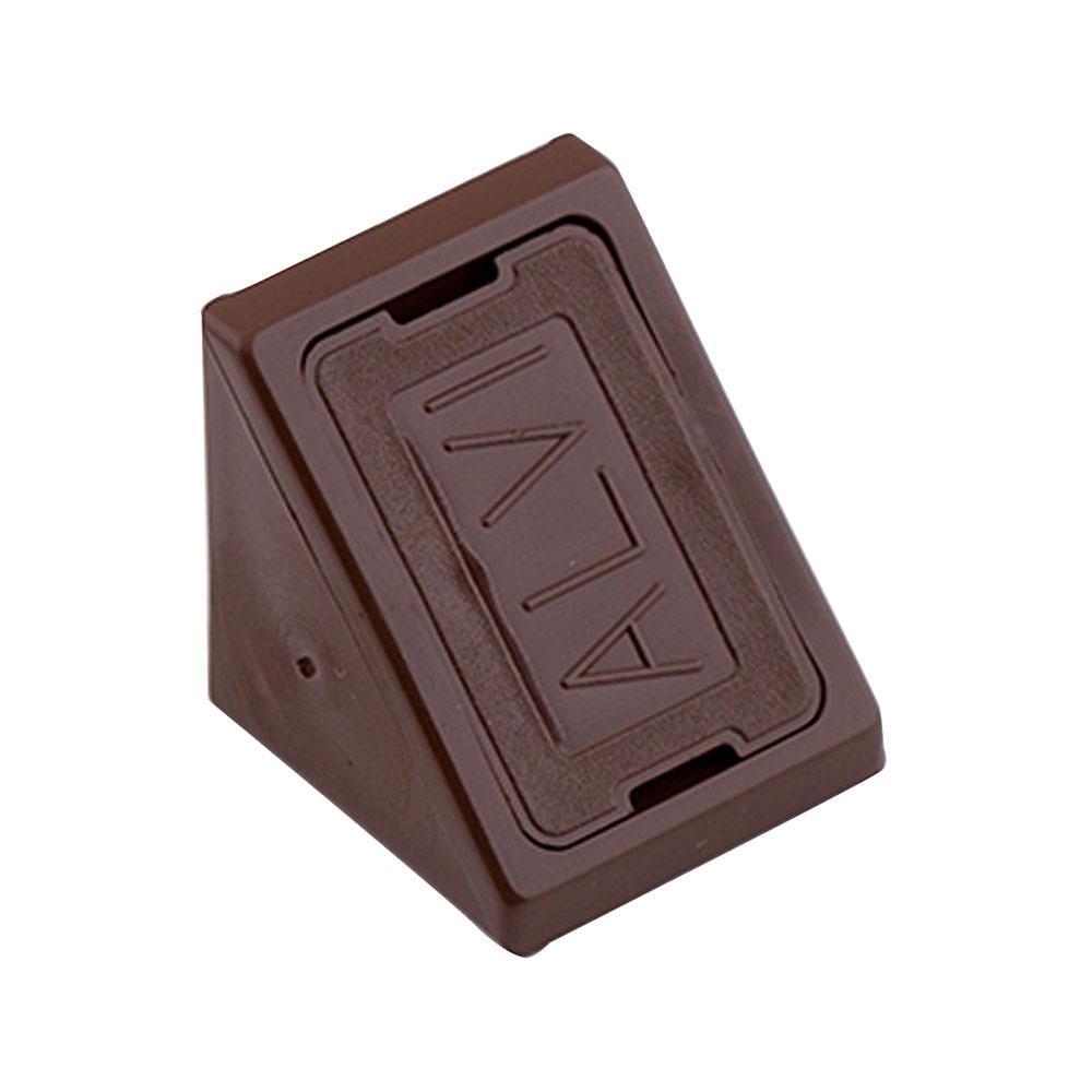 Уголок мебельный пластиковый 21х21х21 мм дуб с шурупом (6 шт.) комплектующие для корпусной мебели