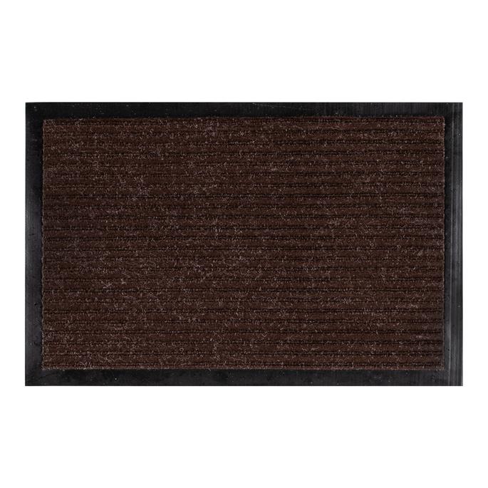 Коврик придверный влаговпитывающий коричневый 40х60 см