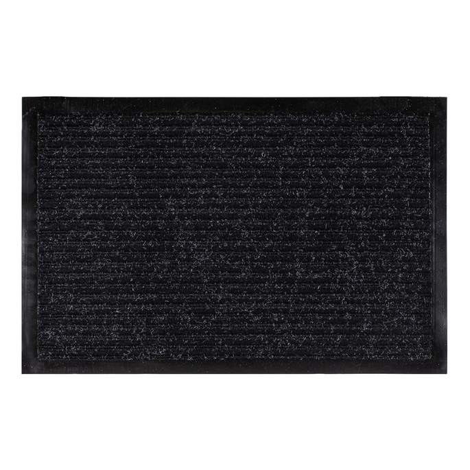 Коврик придверный влаговпитывающий черный 40х60 см