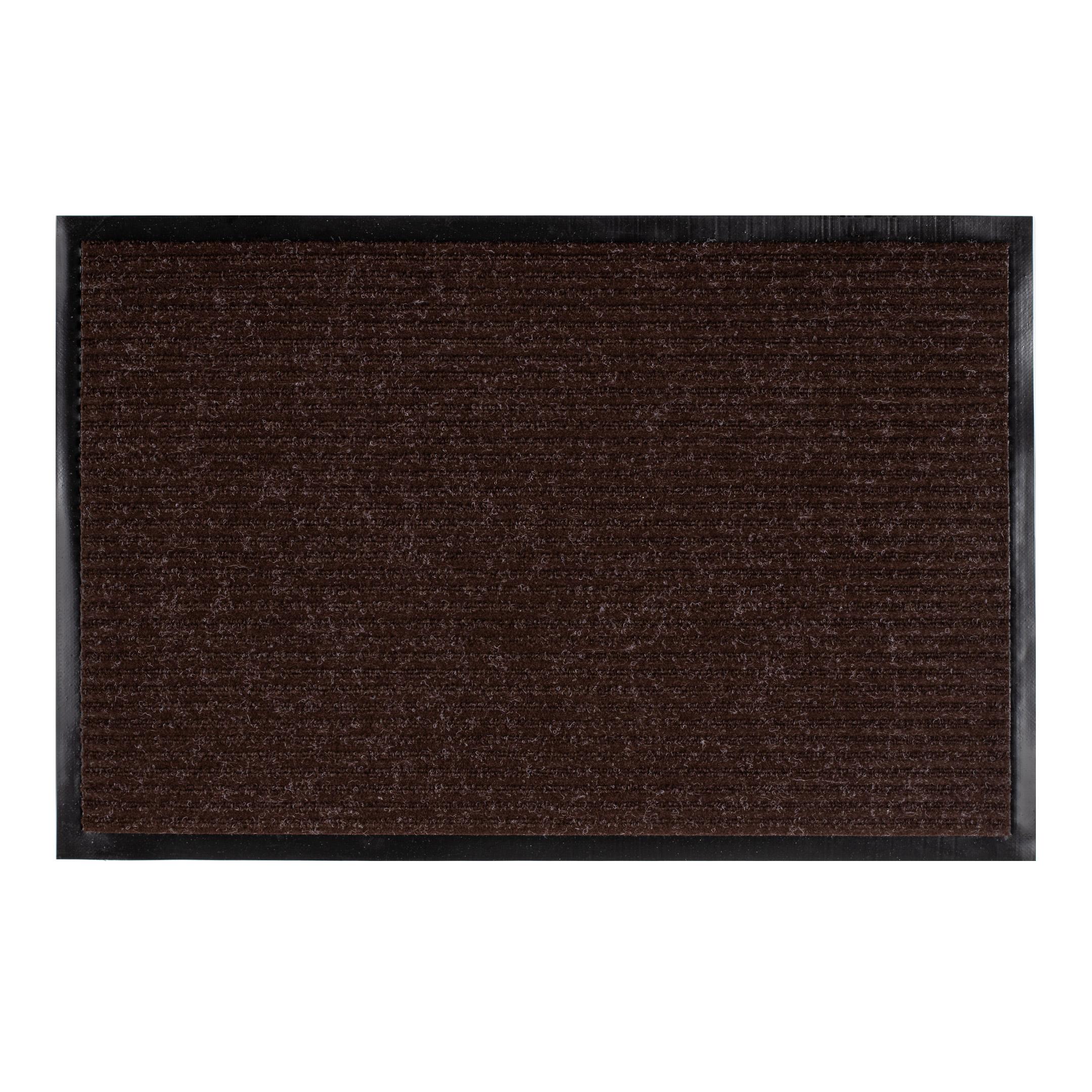 Коврик придверный влаговпитывающий коричневый 60х90 см