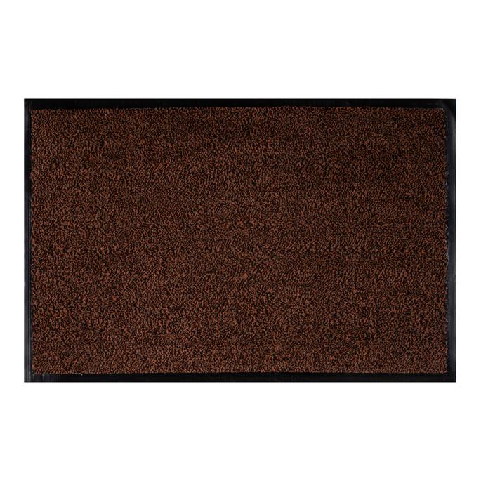 Коврик придверный с разрезным ворсом темно-коричневый 60х90 см