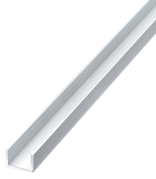 Профиль U-образный алюминиевый 10х15х10х1,5х2000 мм анодированный arlight алюминиевый профиль box60 side 2000 anod