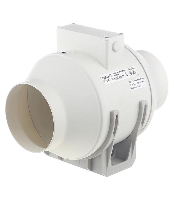Вентилятор канальный центробежный d100 мм Cata Duct In Line 100/130 слоновая кость вентилятор канальный cata duct in line 100 130 smt 100