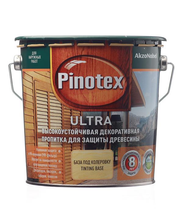 Декоративно-защитная пропитка для древесины Pinotex Ultra бесцветный 2.7 л
