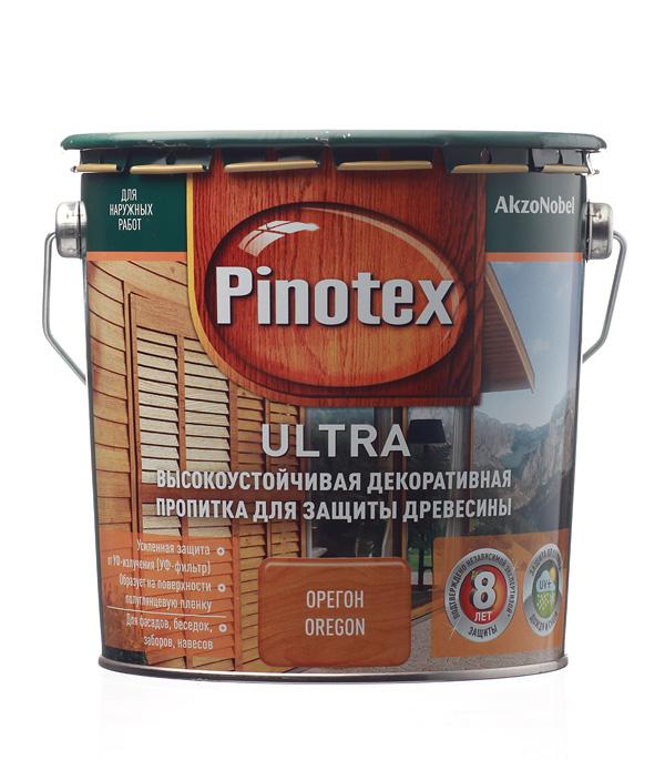 Декоративно-защитная пропитка для древесины Pinotex Ultra орегон 2.7 л