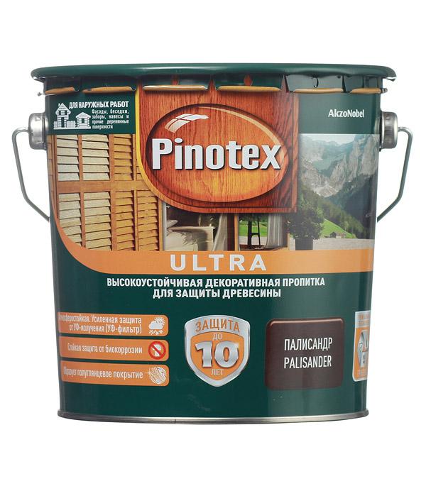 Декоративно-защитная пропитка для древесины Pinotex Ultra палисандр 2.7 л