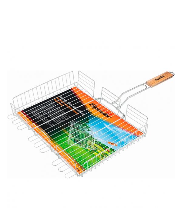 Купить Решетка-гриль SPARTA объемная хромированная 300 х 400 х 65 мм