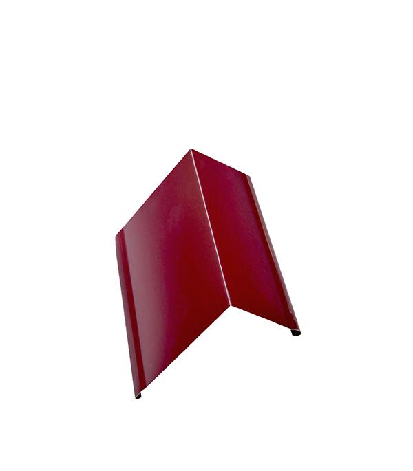 Планка торцевая для металлочерепицы красная RAL 3005 50х100 мм 2 м планка карнизная для гибкой черепицы 100х60 мм 2 м красная ral 3009