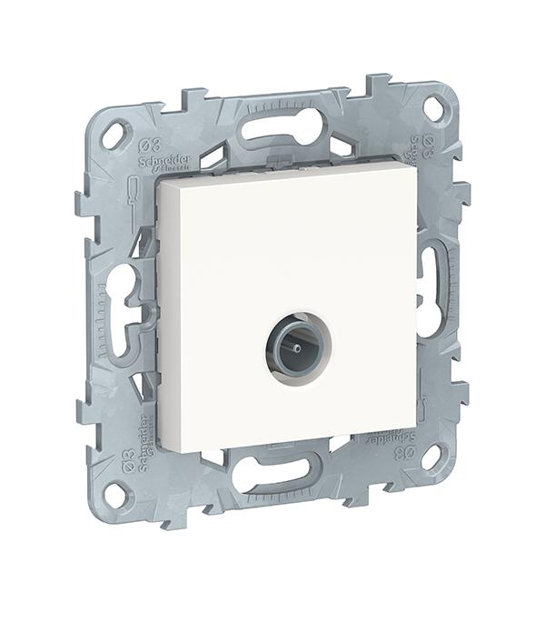 Механизм розетки телевизионной с/у Schneider Electric UNICA NEW белый механизм переключателя одноклавишного проходного с у schneider electric unica белый