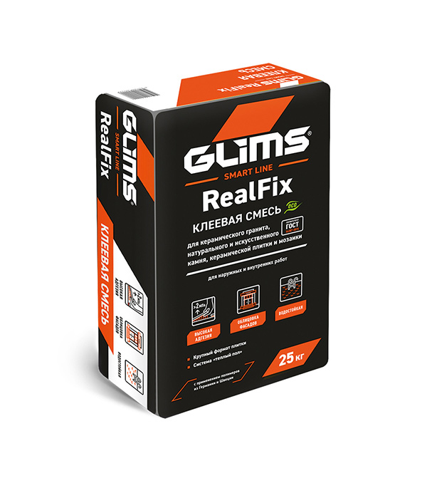 Клей для плитки GLIMS RealFix 25кг