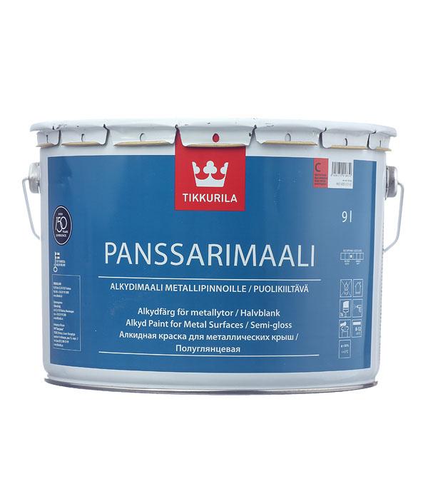 цена на Эмаль противокоррозионная Tikkurila Panssarimaali алкидная основа С полуглянцевая 9 л