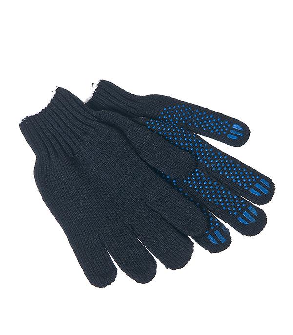 Перчатки х.б. с ПВХ покрытием черные (повышенная плотность) хлопчатобумажные перчатки облитые пвх мбс манжета на резинке