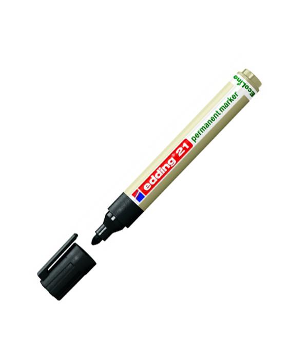Перманентный маркер Edding EcoLine 21 круглый наконечник черный 15-3 мм ъъмаркер черный перманентный 1 5мм edding 1