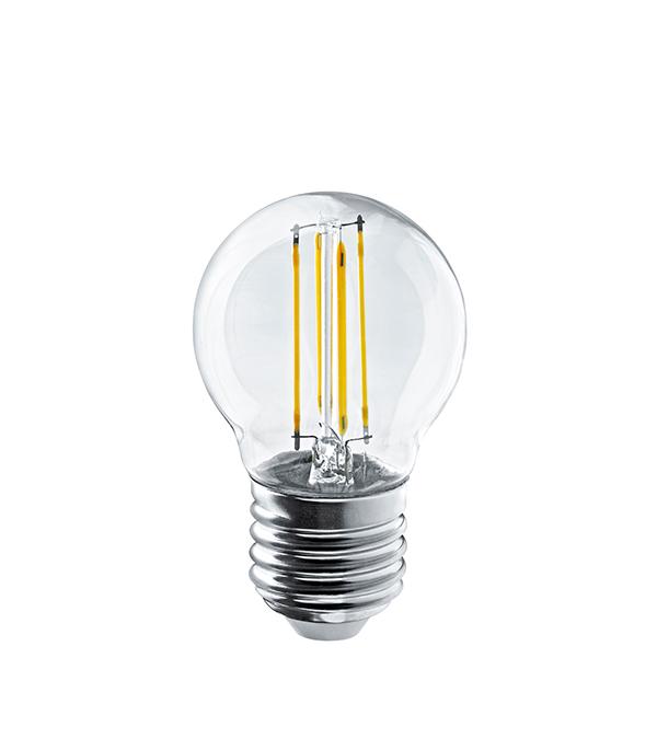 Купить Лампа светодиодная Navigator E27 4Вт филаментная шарик 2700К теплый свет