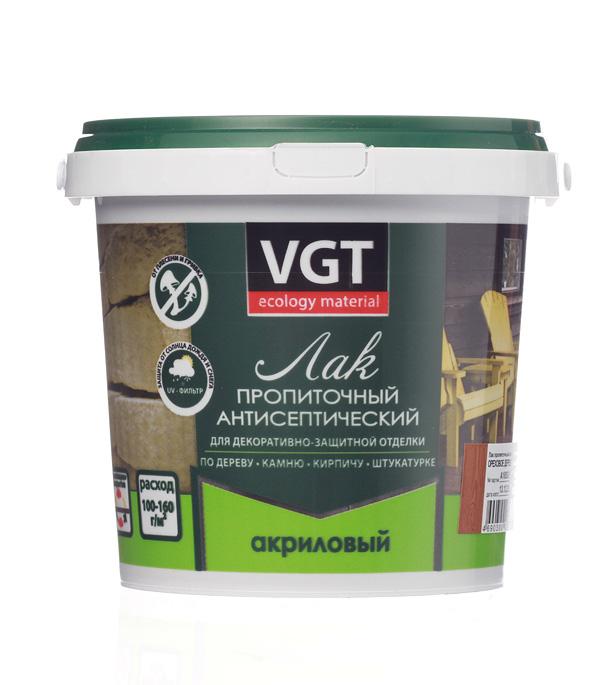 Лак антисептик акриловый VGT ореховое дерево 0,9 кг
