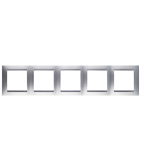 Рамка на 5 постов универсальная алюминий Simon 15 gira gira esp glass c салатовое стекло рамка 5 ая 0215518