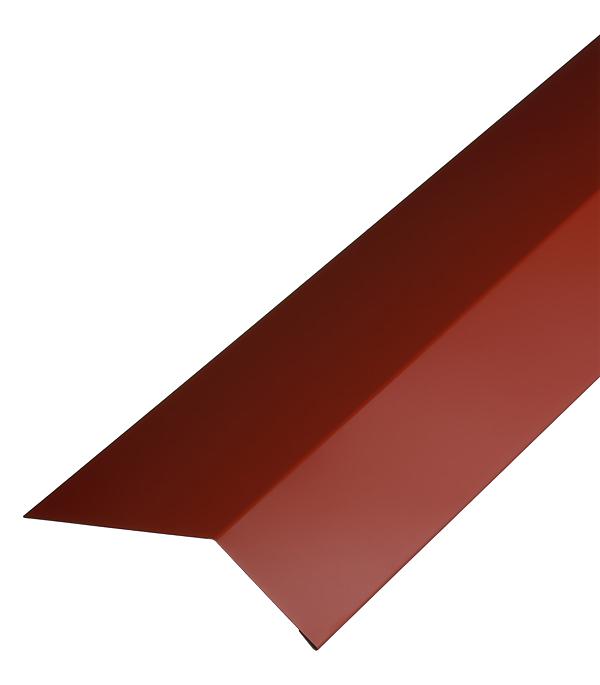 Планка карнизная для гибкой черепицы 100х60 мм 2 м красная RAL 3009 торцевая планка для гибкой черепицы 100х65 мм 2 м красная ral 3009