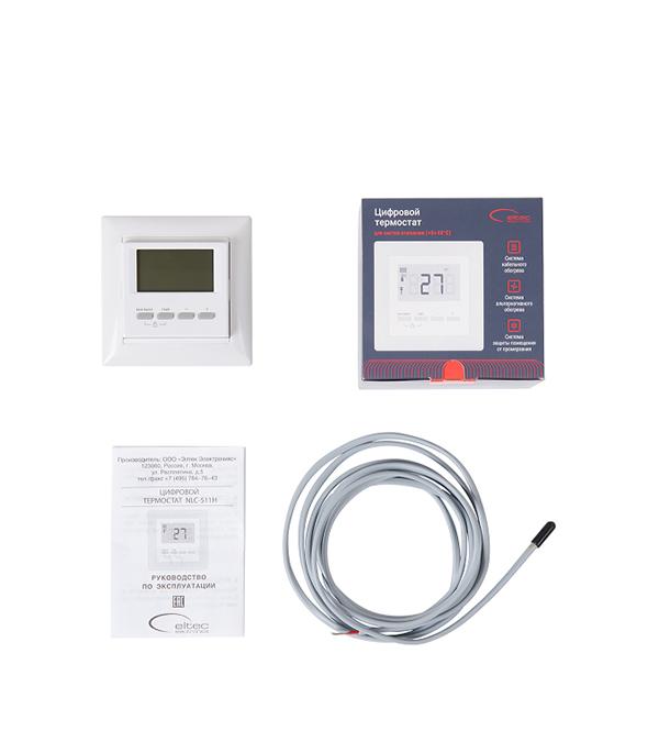 Электронный термостат цифровой SPYHEAT NLC-511H белый терморегулятор программируемый spyheat nlc 527h белый