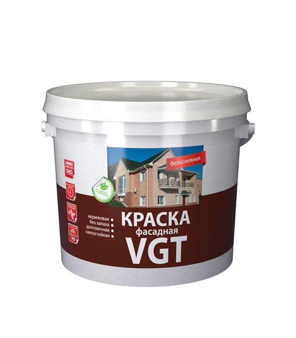 цена на Краска в/д VGT фасадная белоснежная 25 кг