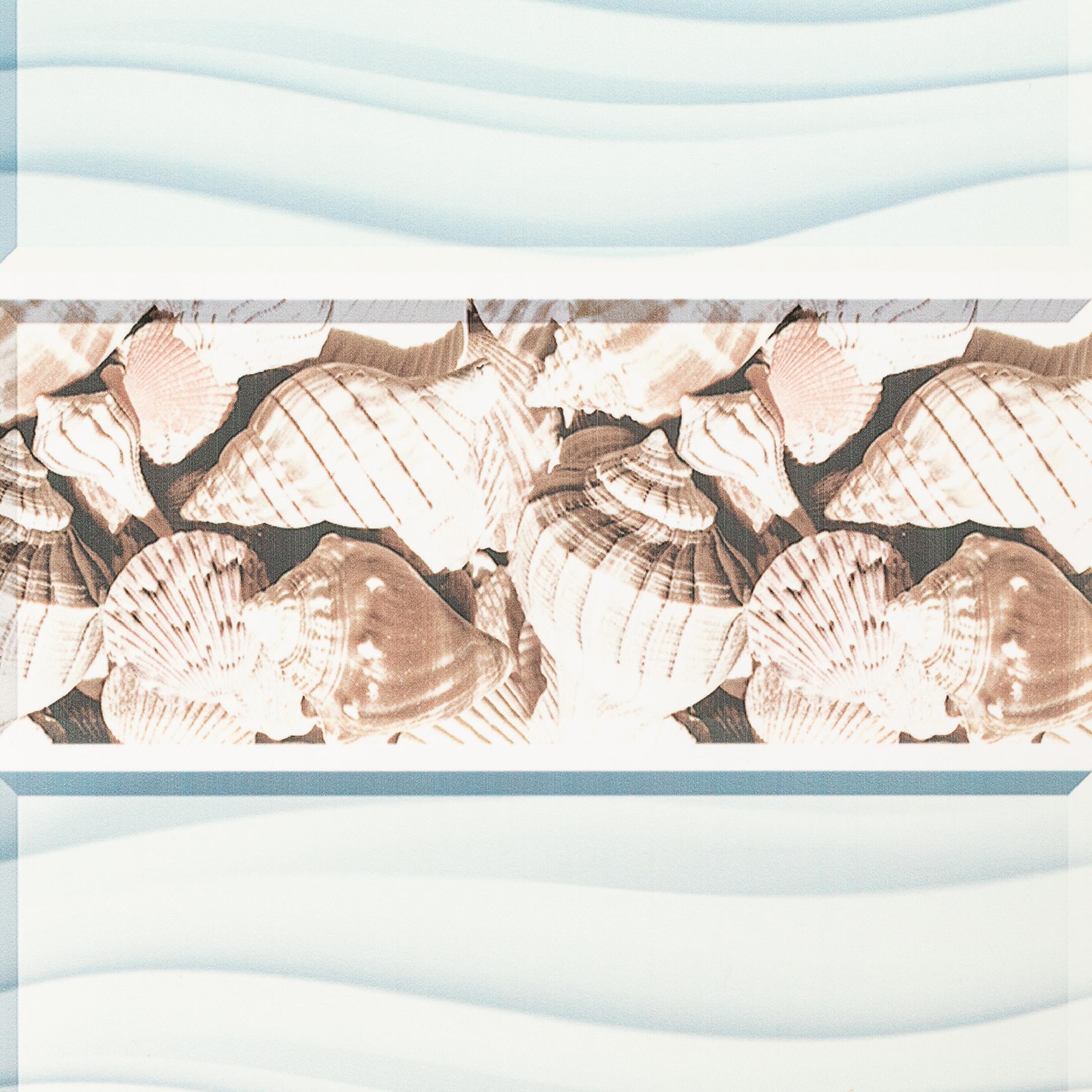 Панель ПВХ 250х2700х8 мм Центурион Blossom ракушки фон.