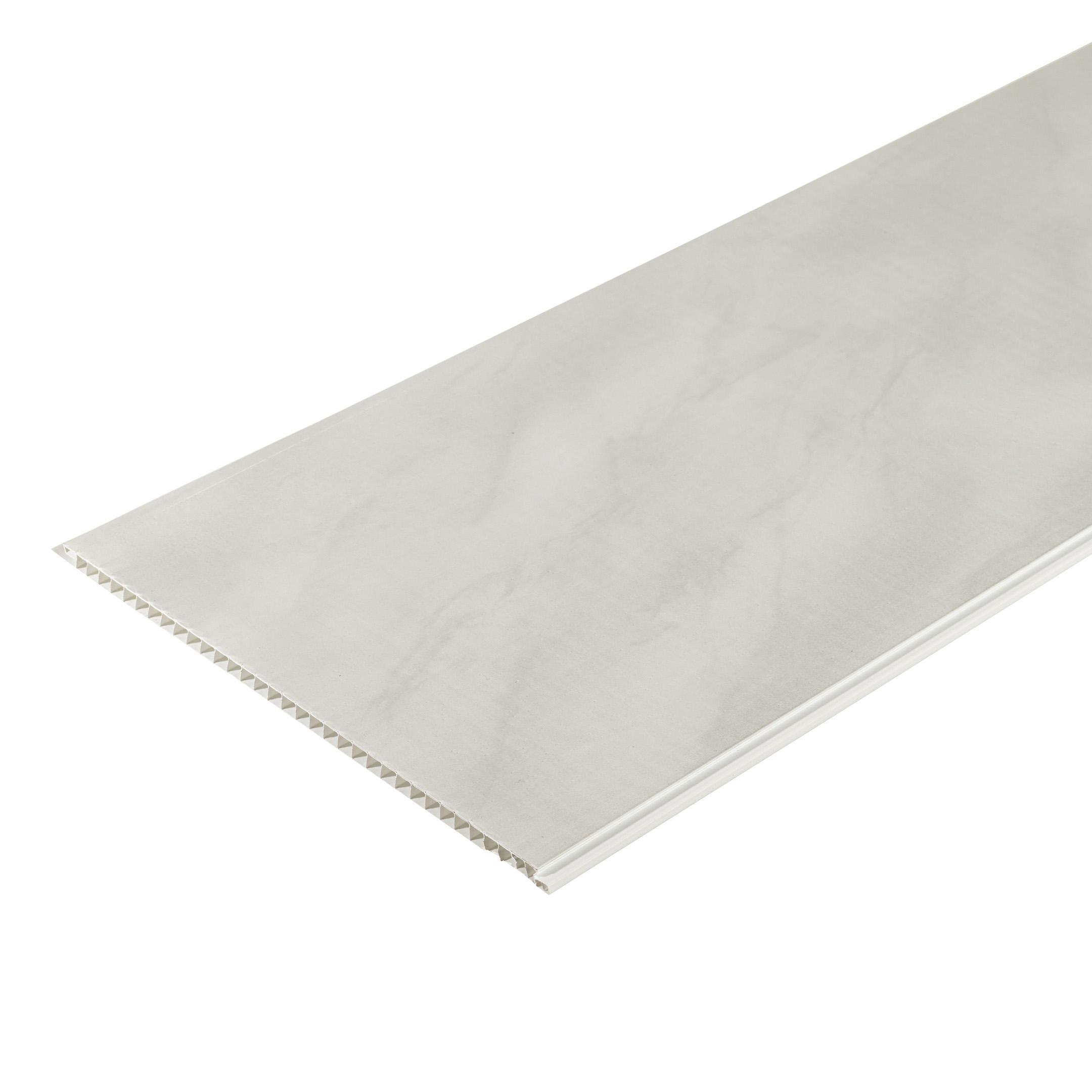 Панель ПВХ 250х2700х8 мм Nordside мрамор светло-серый офсет